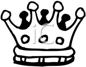 300x233 Art Image A Black And White Cartoon Crown