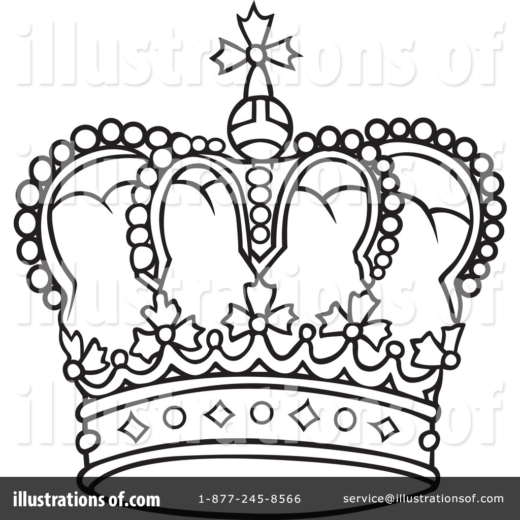 1024x1024 Crown Clipart Line Drawing
