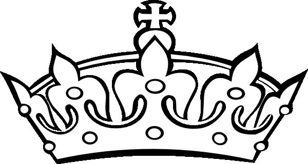 600x321 Blacknwhite Crown Clip Art
