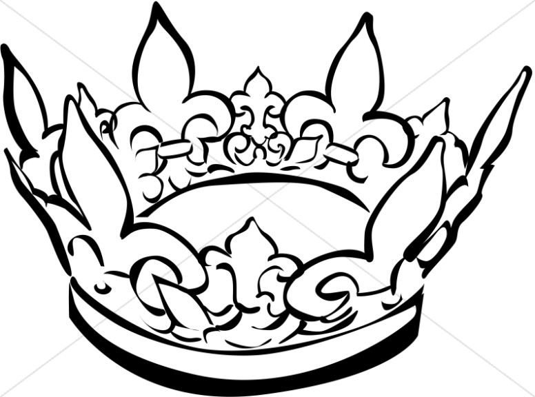 776x576 King Crown Clip Art Black And White