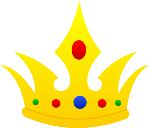 523x451 Yellow Prince Crown Clipart