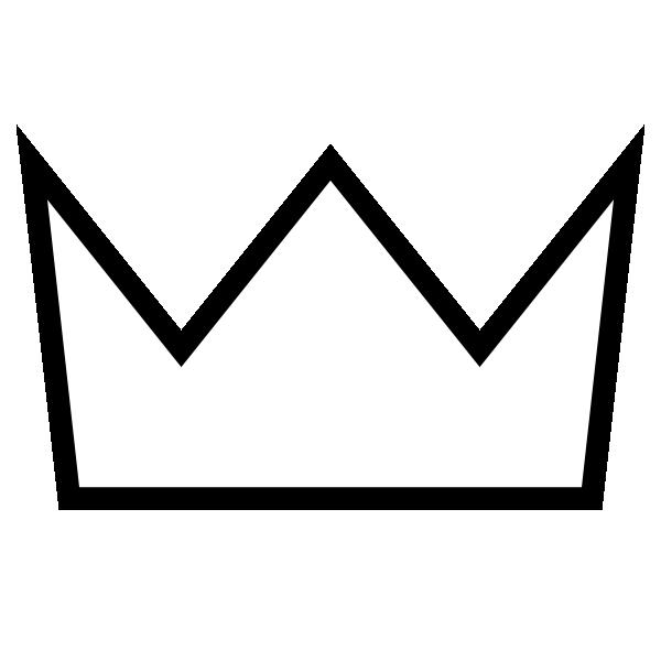 600x600 Crown Outline White Clip Art