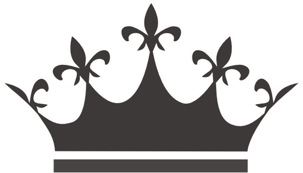 600x344 Pageant Crown Black And White Clipart