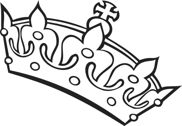 600x416 Pageant Crown Black And White Clipart