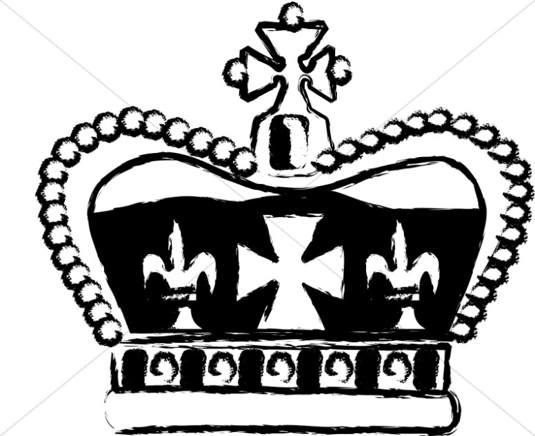 776x633 Bishop With Crown And Sceptre Crown Clipart