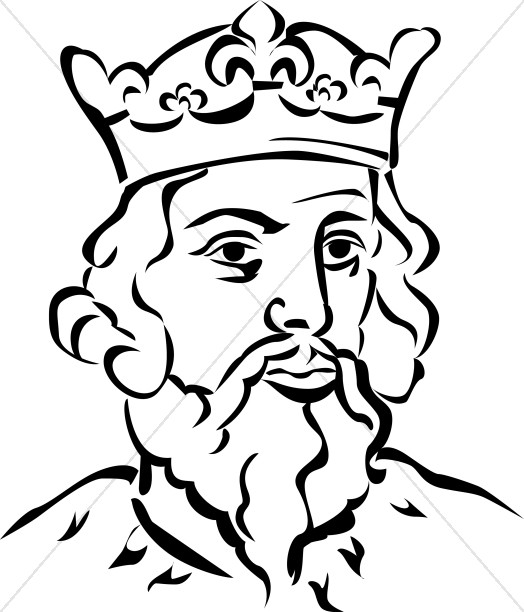 524x612 Black And White King Clipart