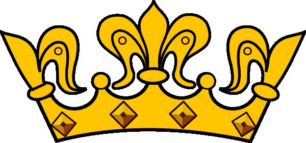 600x282 Gold Crown Clip Art