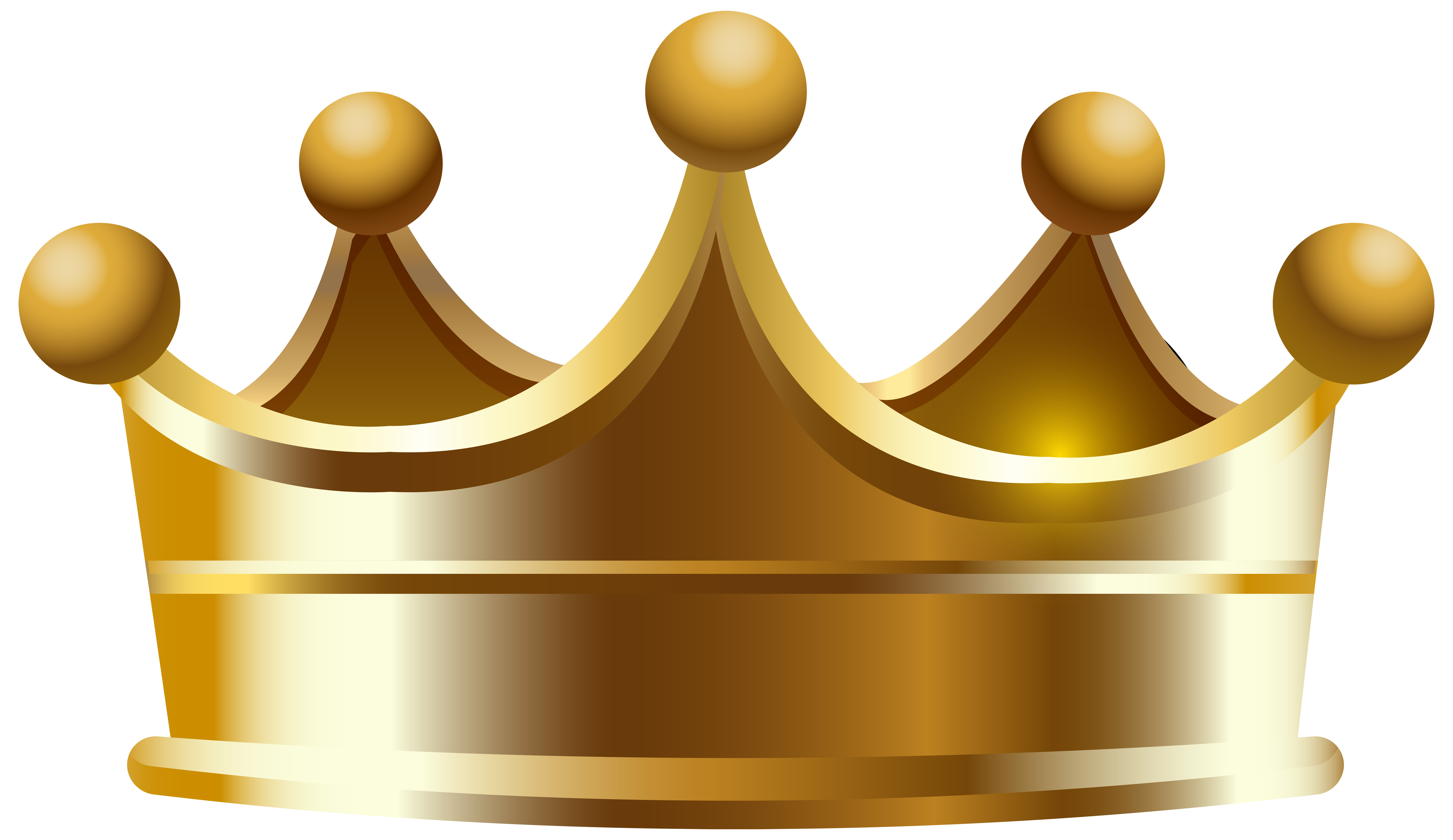 8000x4625 Gold Crown Clipart Transparent Background Collection