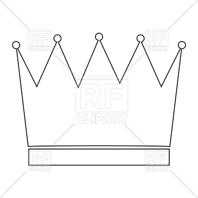 400x400 Crown Outline Icon Royalty Free Vector Clip Art Image
