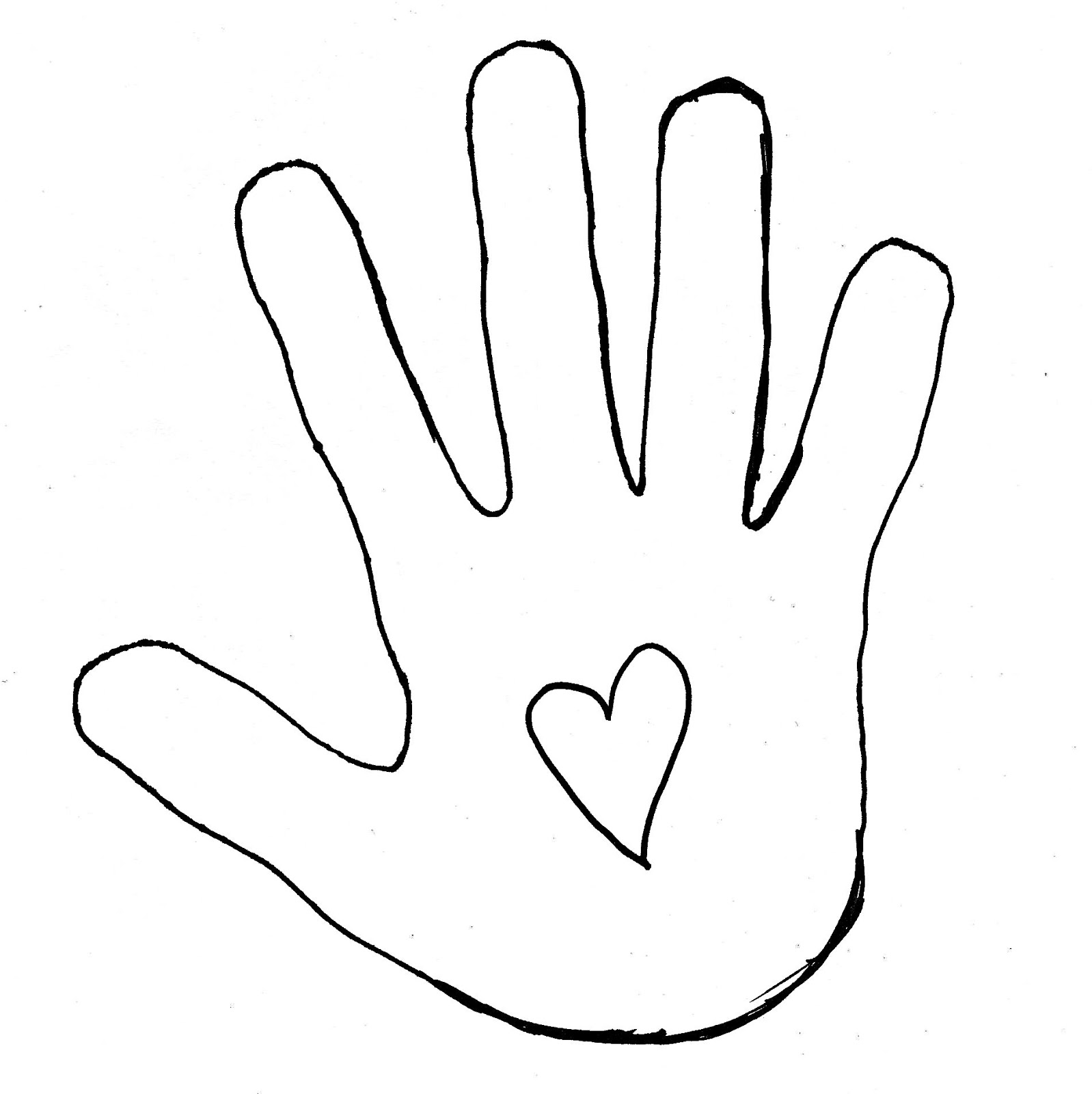 1598x1600 Hand Outline Clipart