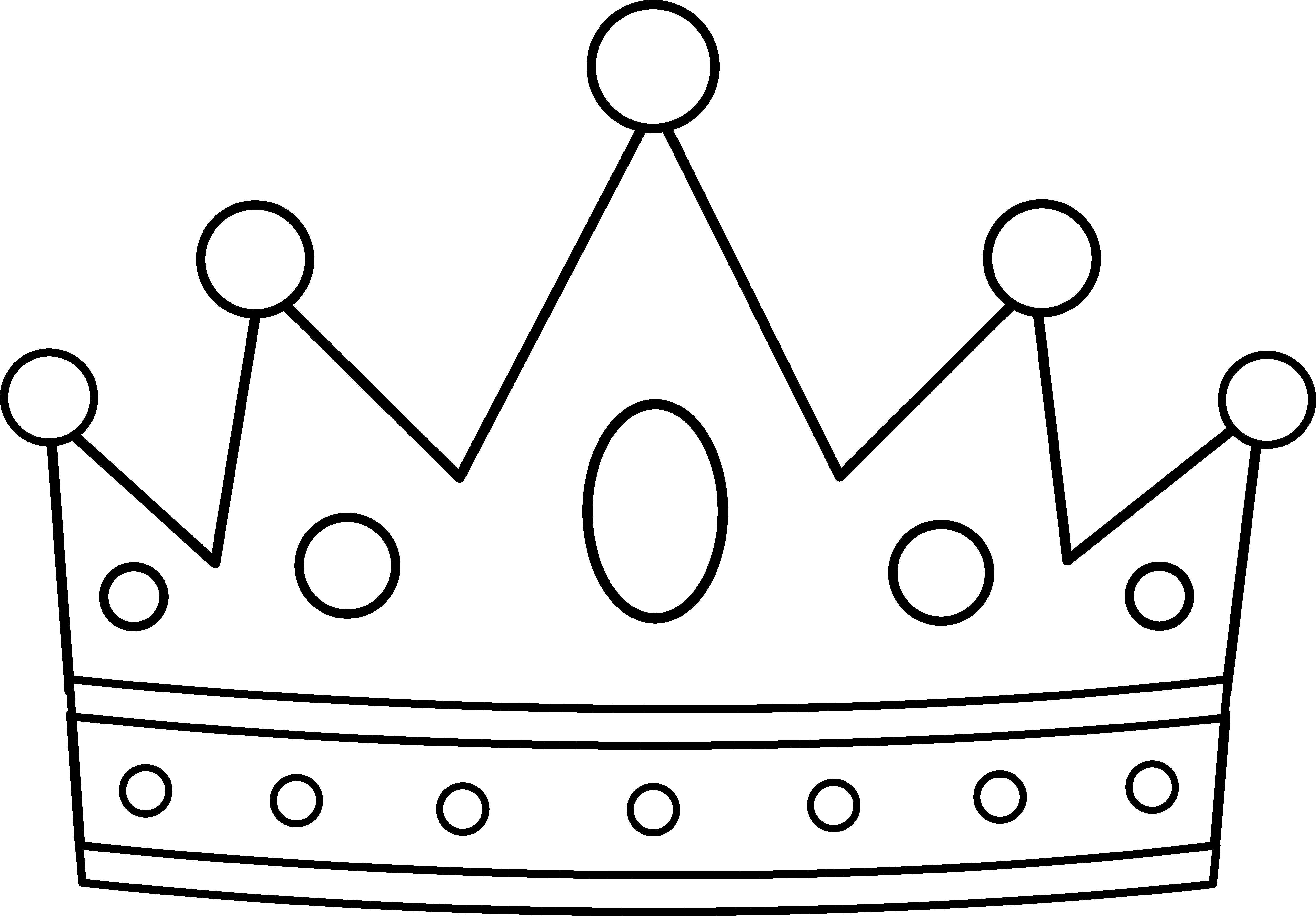 5387x3750 Royal Crown Coloring Page