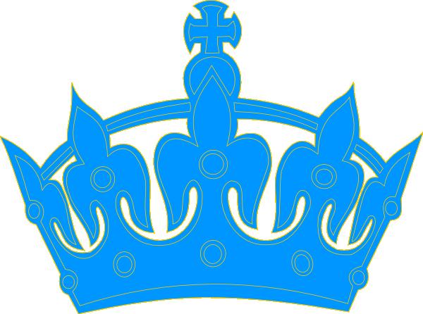 600x446 Blue Crown Clip Art