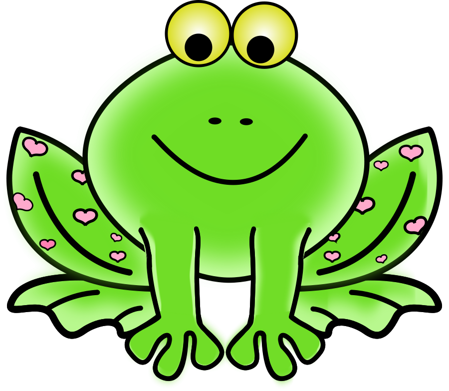 900x783 Light Green Frog Clipart