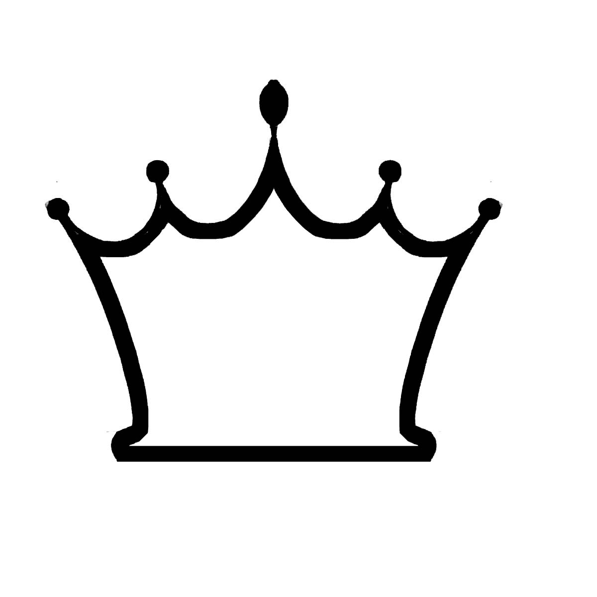 1200x1200 White crown black background clipart