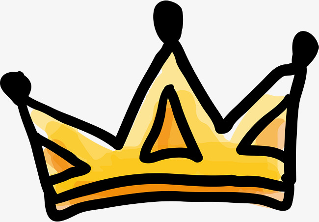 650x452 Golden Crown, Cartoon Hand Drawing, Golden, Simple Png And Vector