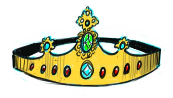 550x312 How To Draw A Crown