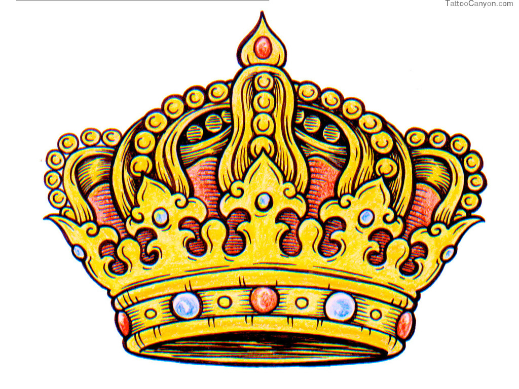 1024x768 King Crown Drawing