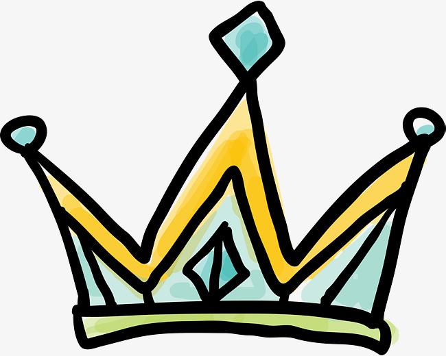 650x520 Cartoon Doodle Princess Crown, Cartoon Hand Drawing, Graffiti