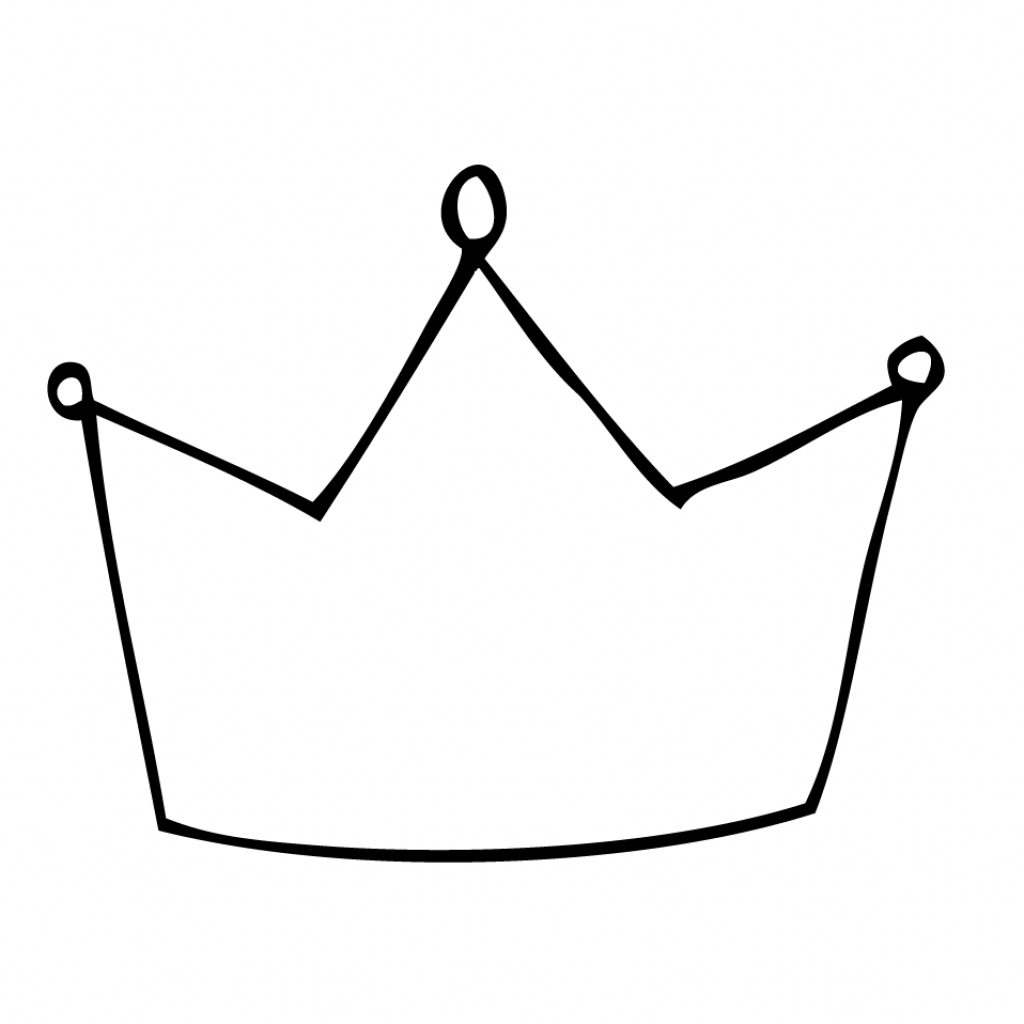 1024x1024 Simple Crown Drawing