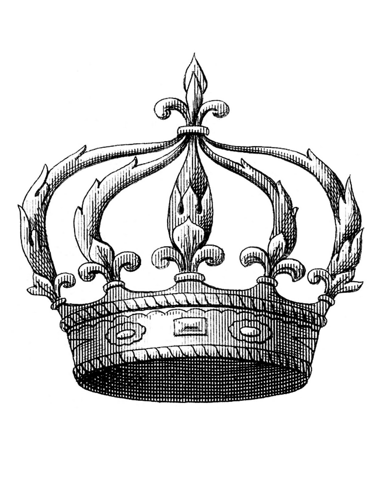 1236x1600 Vintage Crown Clipart, Explore Pictures