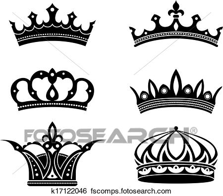 450x397 Clip Art Of Royal Crowns And Diadems K17122046