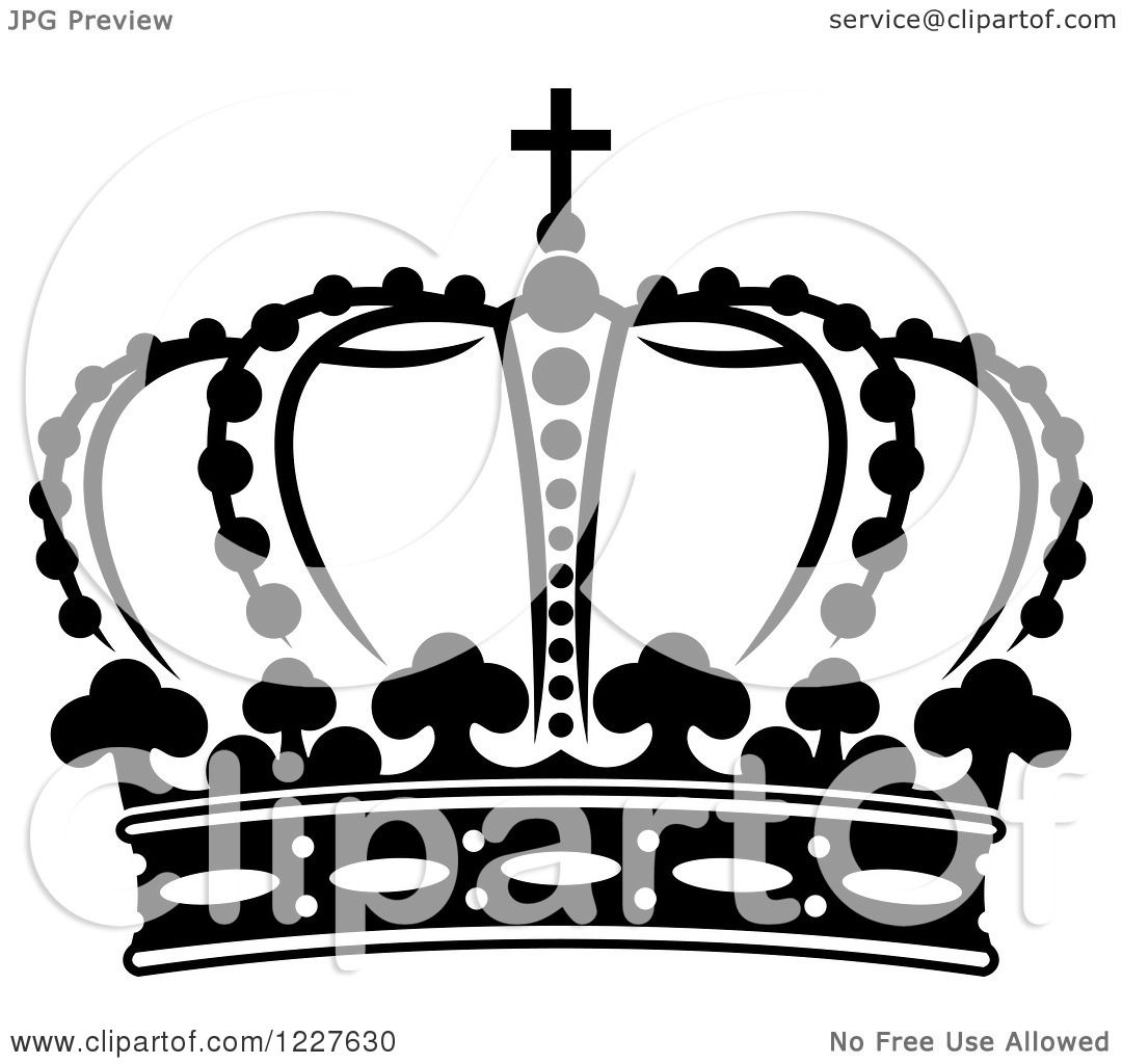 1080x1024 Clipart Of A Black And White Crown 15