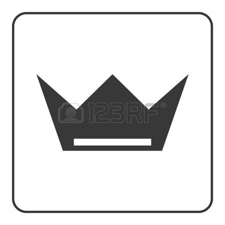 450x450 Crown Icon. Black Shape Sign Isolated On White Background. Symbol