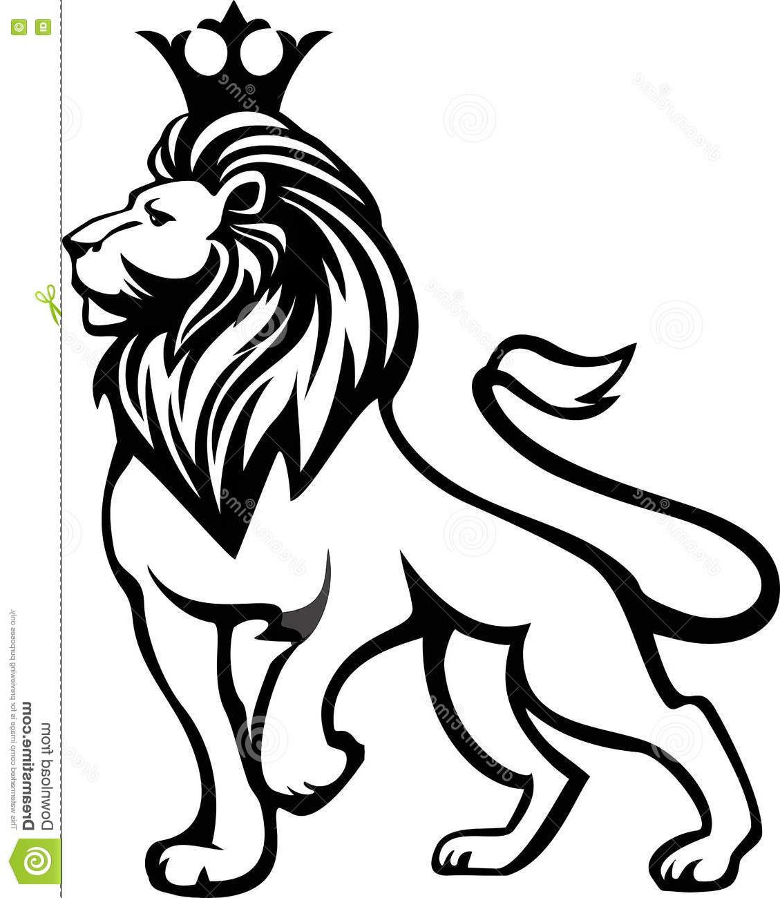 1129x1300 Best Black White Lion Full Growth Crown His Head File Free