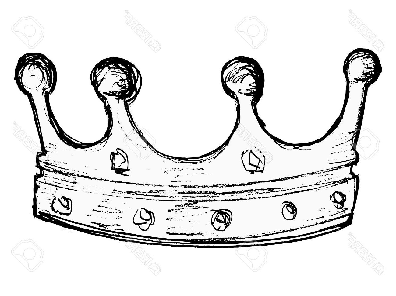 1300x974 Hd Hand Drawn Vector Sketch Illustration Of Crown Stock Cdr