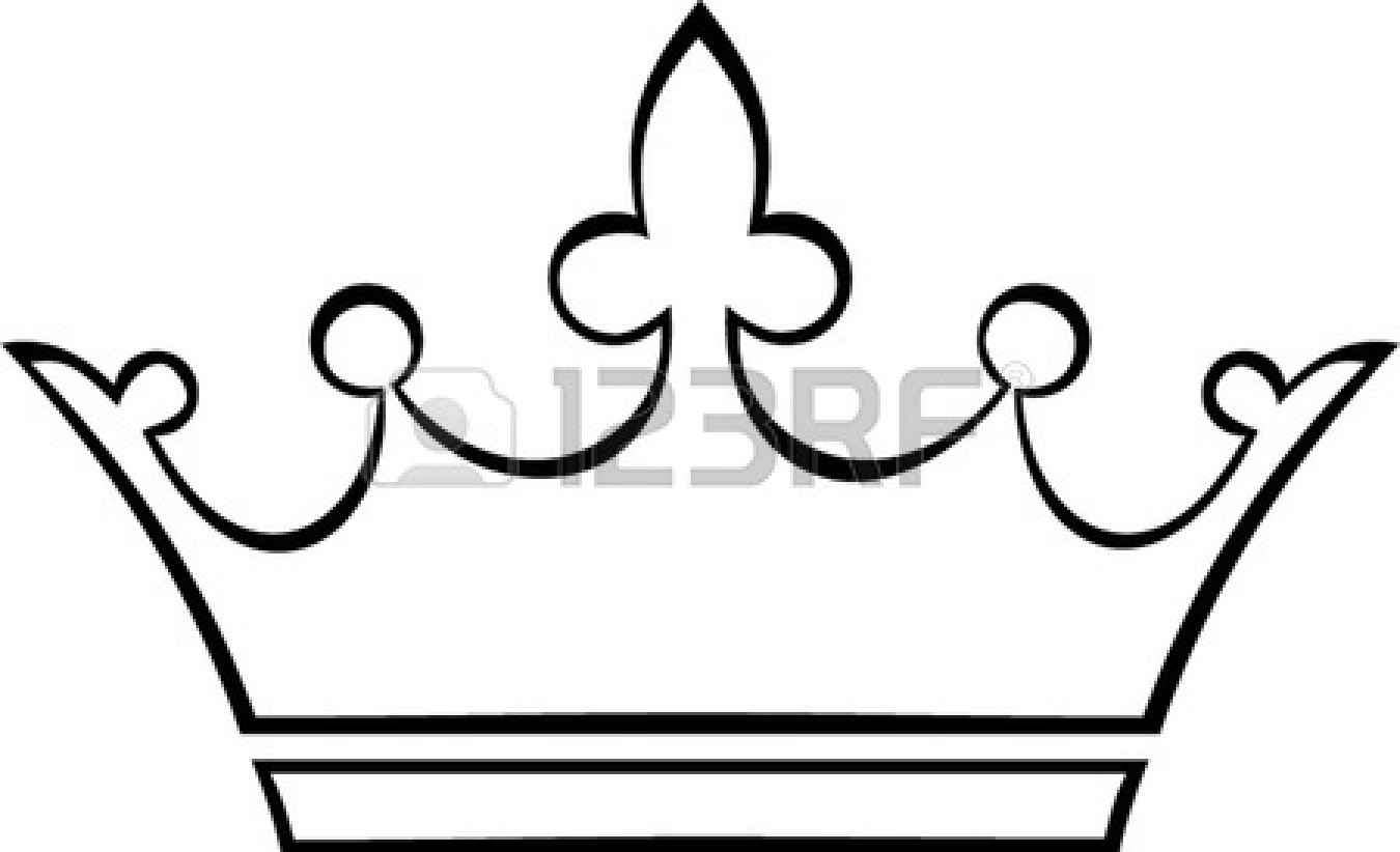 1350x822 Pageant Crown Black And White Clipart