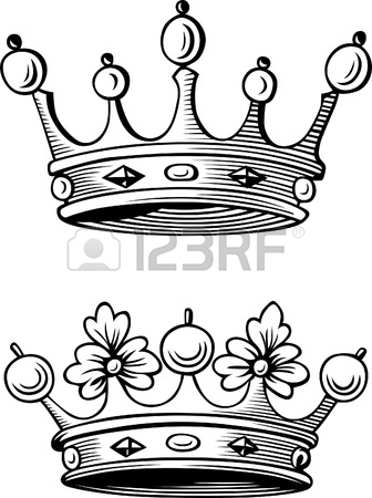 336x450 Two Different Crowns Royalty Free Cliparts, Vectors, And Stock