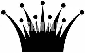 300x187 Black And White Clipart Picture Of A Crown