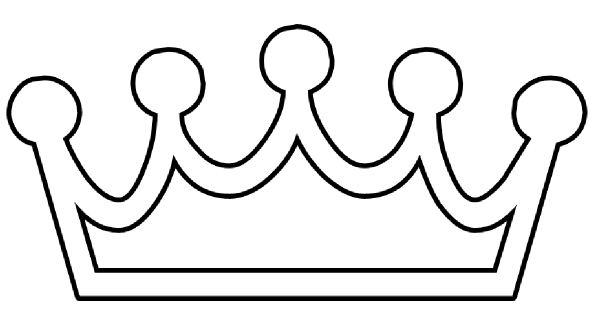 600x322 Crown Clipart Line Drawing