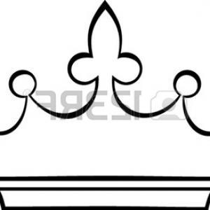 300x300 Crown Outline Clip Art, Free Crown Outline Clip Art