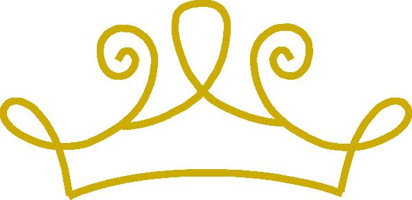 600x291 Tiara Gold Crown Clip Art