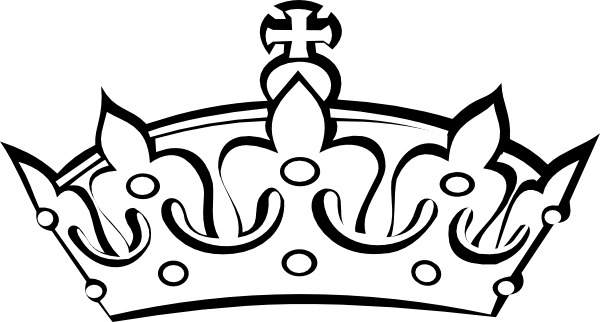 600x322 Crown Clipart Black And White
