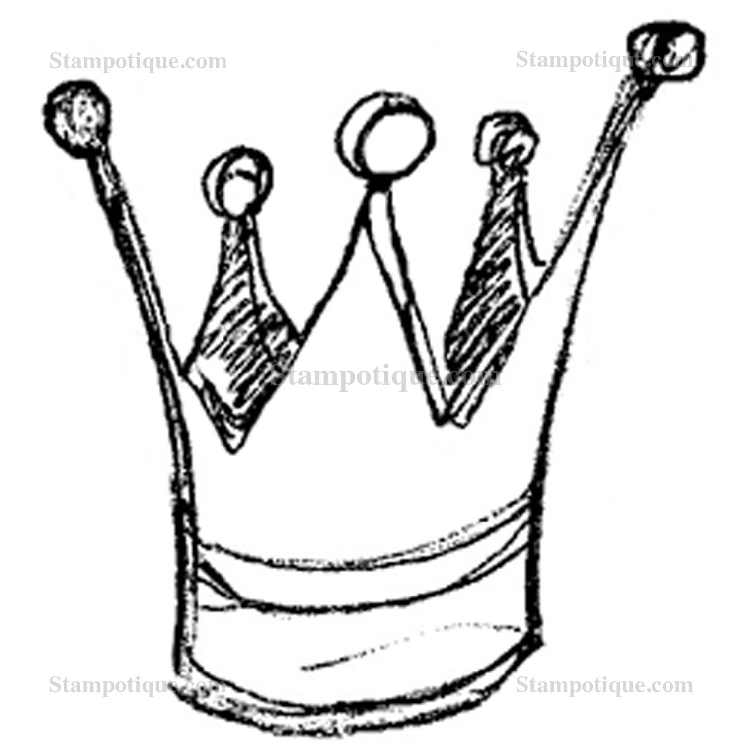 Crown Line Drawing