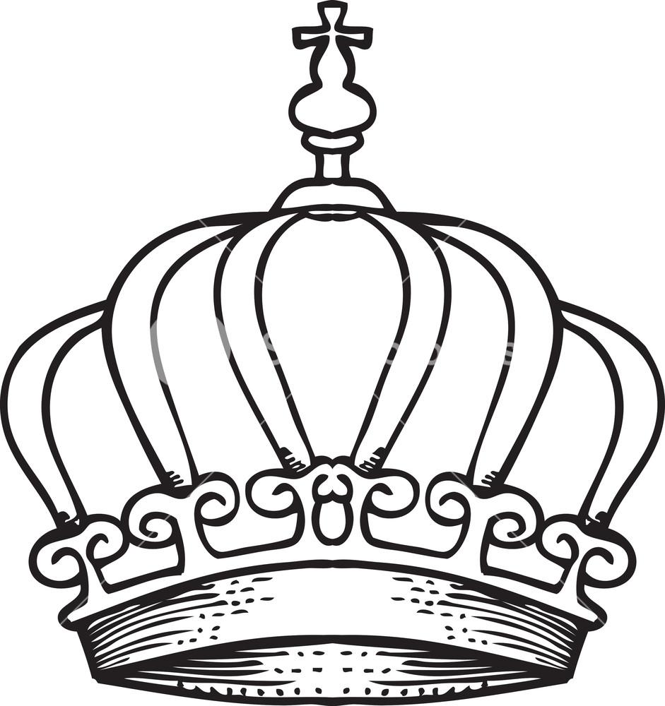 941x1000 Crown Vector Element Royalty Free Stock Image