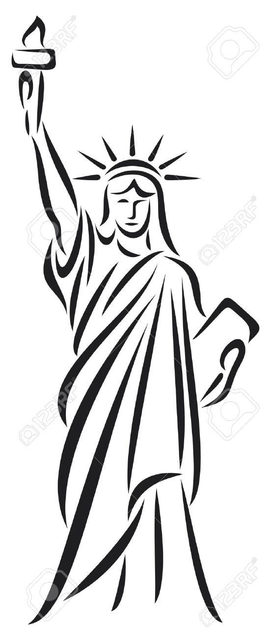 554x1300 Drawn Statue Of Liberty Crown
