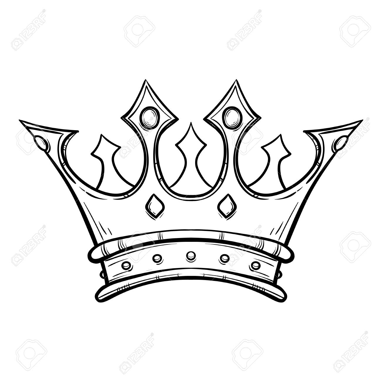 1300x1300 Hand Drawn King Crown Hand Drawn Royalty Free Cliparts, Vectors