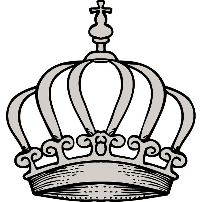 660x660 Crown Free Vector.eps, Vector Graphic