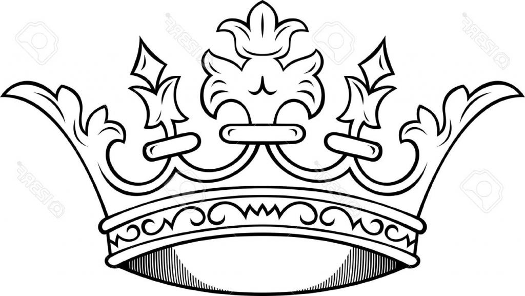 1024x577 Simple Crown Drawing
