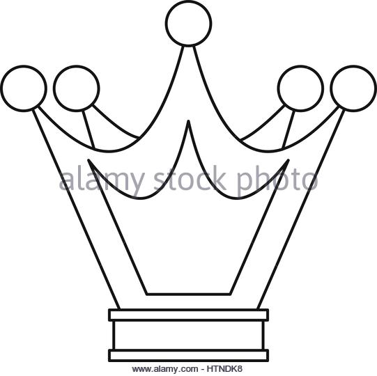 541x540 Princess Crown Icon Outline Illustration Stock Photos Amp Princess