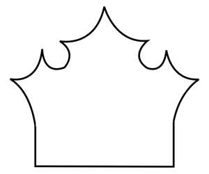 300x250 Crown Template Princess Camp Crown Template, Crown