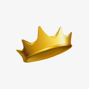 350x350 Cartoon Gold Crown, Golden, Kings Crown, Cartoon Crown Png Image