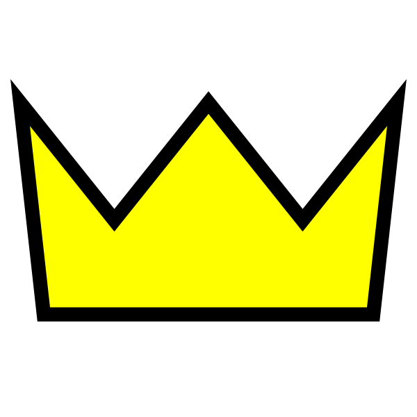 600x600 Yellow Crown Png Clip Art