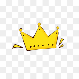 260x260 Yellow Cartoon Crown, Yellow Crown, Cartoon Crown, Imperial Crown