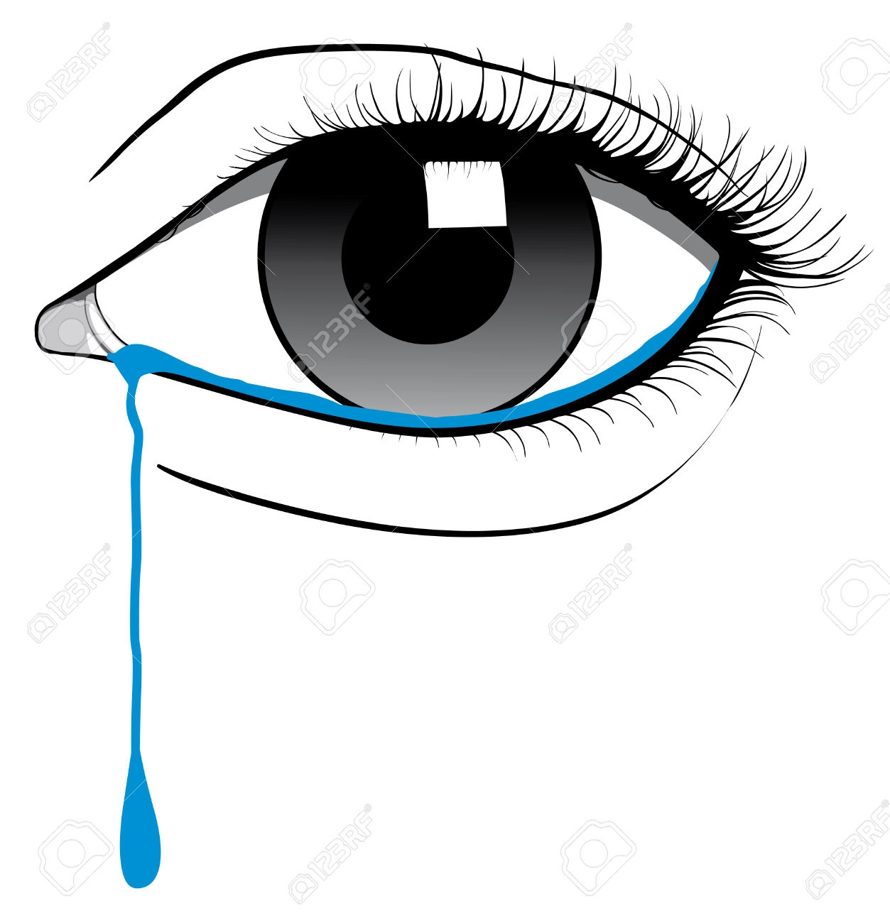 1253x1300 Eye Clipart Cry