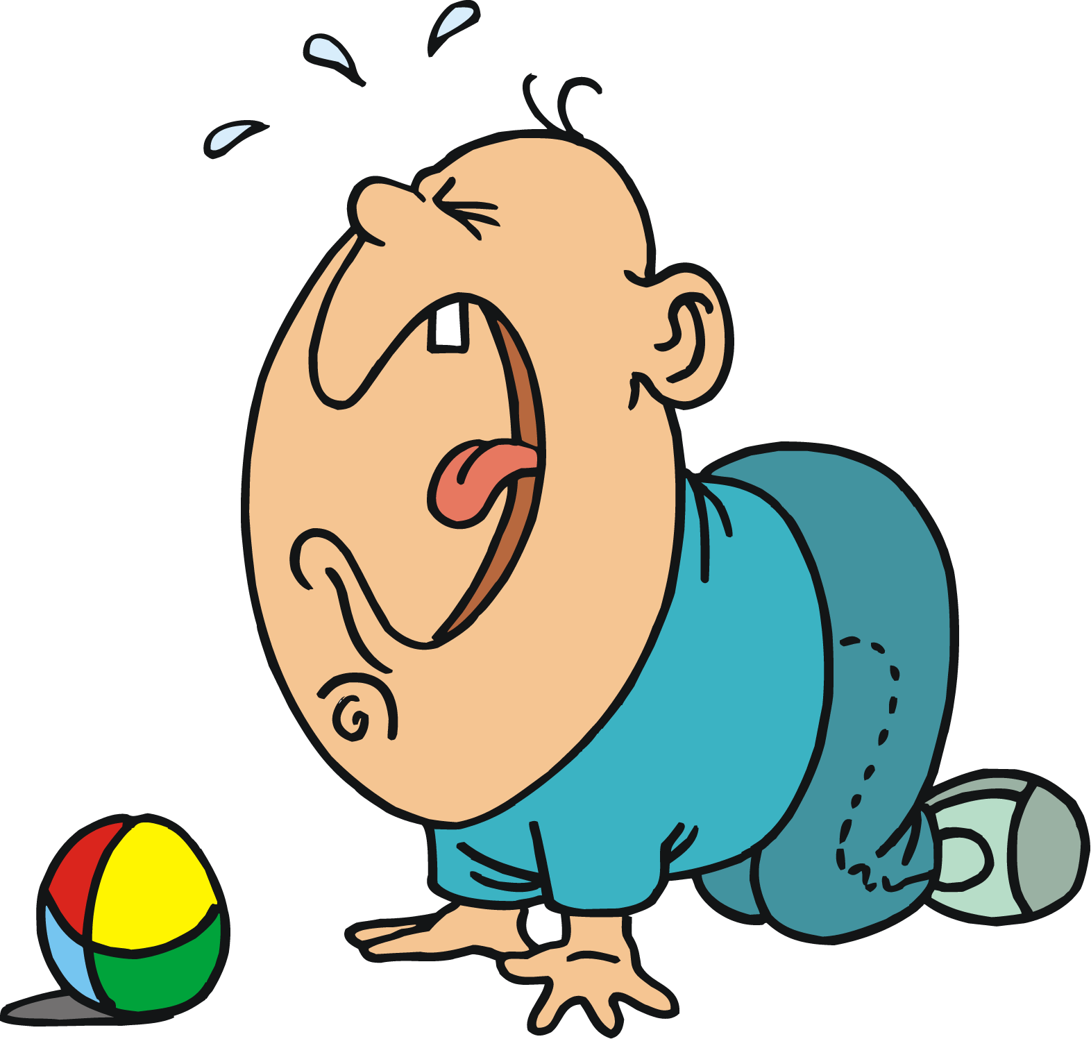 1572x1497 Free Big Cry Baby Cartoon Character Vector Clip Art Image