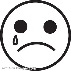 300x298 Crying Face Clip Art Black And White Clipart